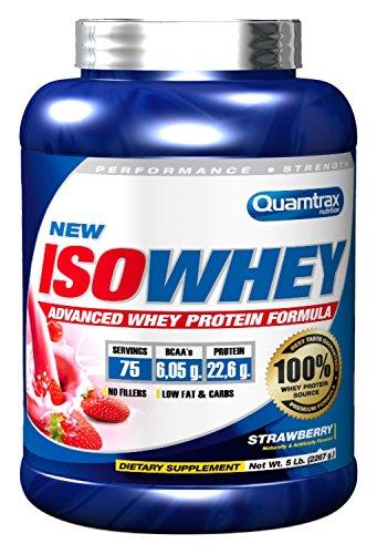 Quamtrax Nutrition Suplemento para Deportistas Isowhey, Sabor a Fresa - 2267 gr 33.95€
