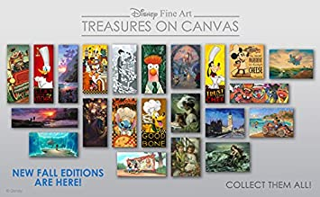 Disney Fine Art Moana s New Friend by Rob Kaz Treasures on Canvas Moana 10 Inches x 20 Inches Reproduction Gallery Wrapped Canvas Wall Art