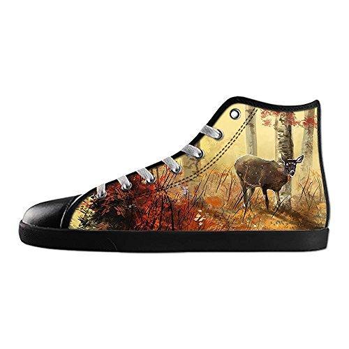 Dalliy Kunst Hjorte Kvinders Lærred Sko Sko Fodtøj Sneakers Sko Sko B xhEvKZmDO0
