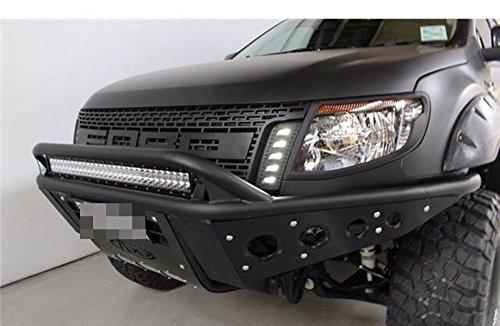 ford ranger t6 front raptor black lit grille grill xlt px. Black Bedroom Furniture Sets. Home Design Ideas