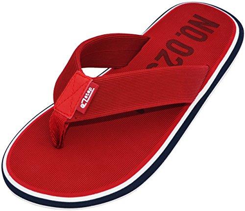 eZstep Mens Jeremy Flip Flop Sandals Red
