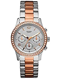 Guess Sports Silver/Rose Gold Watch W0122L1