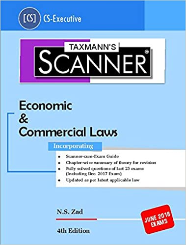 Scanner-Economic & Commercial Laws (CS-Executive)-(June 2018 Exams) Paperback