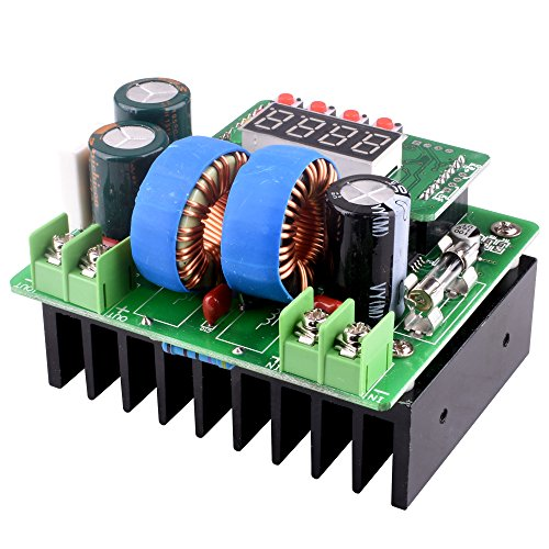 DC/DC Boost Converter, Digital-controlled Power Supply Stabilizers 6V-40V to 8V-80V Step-up Voltage Regulator 400W/10A with LED Display for Laptop and Amp Car QY02 by Longruner