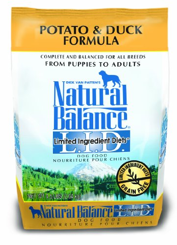 Natural Balance Limited Ingredient Diets Dry Dog Food, Grain Free, Potato And Duck Formula, 4.5-Pound