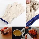 Kitchen Tools & Gadgets - 1pcs Heat Resistant Heatproof Cotton Gloves Bbq Oven Kitchen Gloves - Surface Gloves Handler Glove Pack Oveglove Oven Isolation Heat Proof Cotton Single Mitt