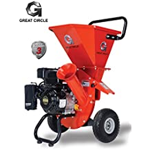 """GreatCircleUSA 6.5 HP Heavy Duty 212cc Gas Powered 3 IN 1 Multi-Function Pro Wood Chipper Shredder for Lawn and Garden Outdoor with 3"""" max Wood Diameter Capacity, 3 Years Warranty"""