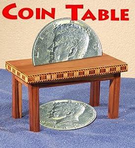 Coins Through Table (Wood)