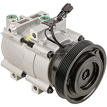 AC Compressor & A/C Clutch For Hyundai Sonata Santa Fe & Kia Magentis Optima - BuyAutoParts 60-00813NA New