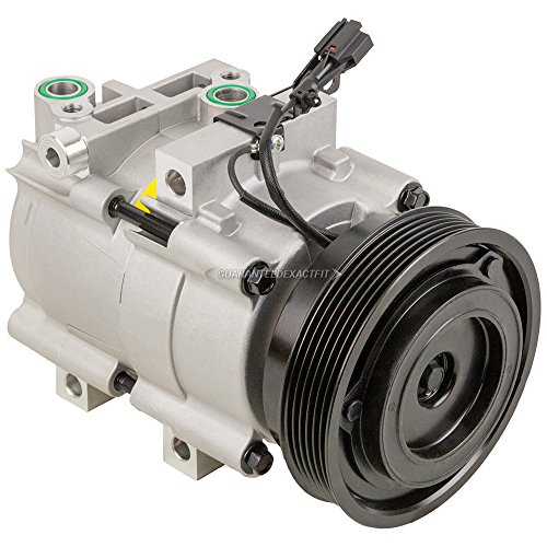 AC Compressor & A/C Clutch For Hyundai Sonata Santa Fe Kia Optima V6 - BuyAutoParts 60-00813NA New