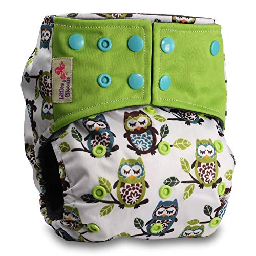 with 1 Bamboo Insert Set of 1 Fastener: Hook-Loop Littles /& Bloomz Pattern 59 Reusable Pocket Cloth Nappy