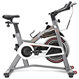 Goplus Adjustable Exercise Bike, Stationary Bike, Indoor Cycling Bike Trainer for Home Cardio