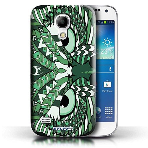 Etui / Coque pour Samsung Galaxy S4 Mini / Hibou-Vert conception / Collection de Motif Animaux Aztec