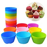 Reusable Silicone Baking Cups Mini Round Cupcake and Muffin Baking Cup
