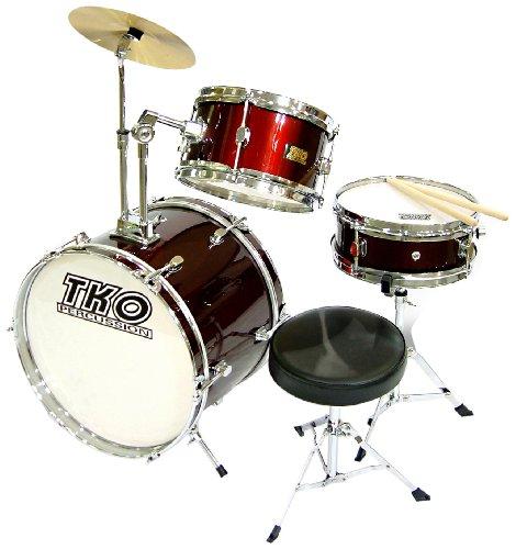 TKO 99TKO99WR 3-Piece Junior Drum Set, Wine Red