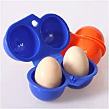 Barbecue & Picnic Supplies - Deviled Container Hard Boiled Holder Camping Carrier - Honana Barbecue Portable Egg Storage Box Container Outdoor Camping Picnic 2 Egg Case Carrier Tray - - 1PCs