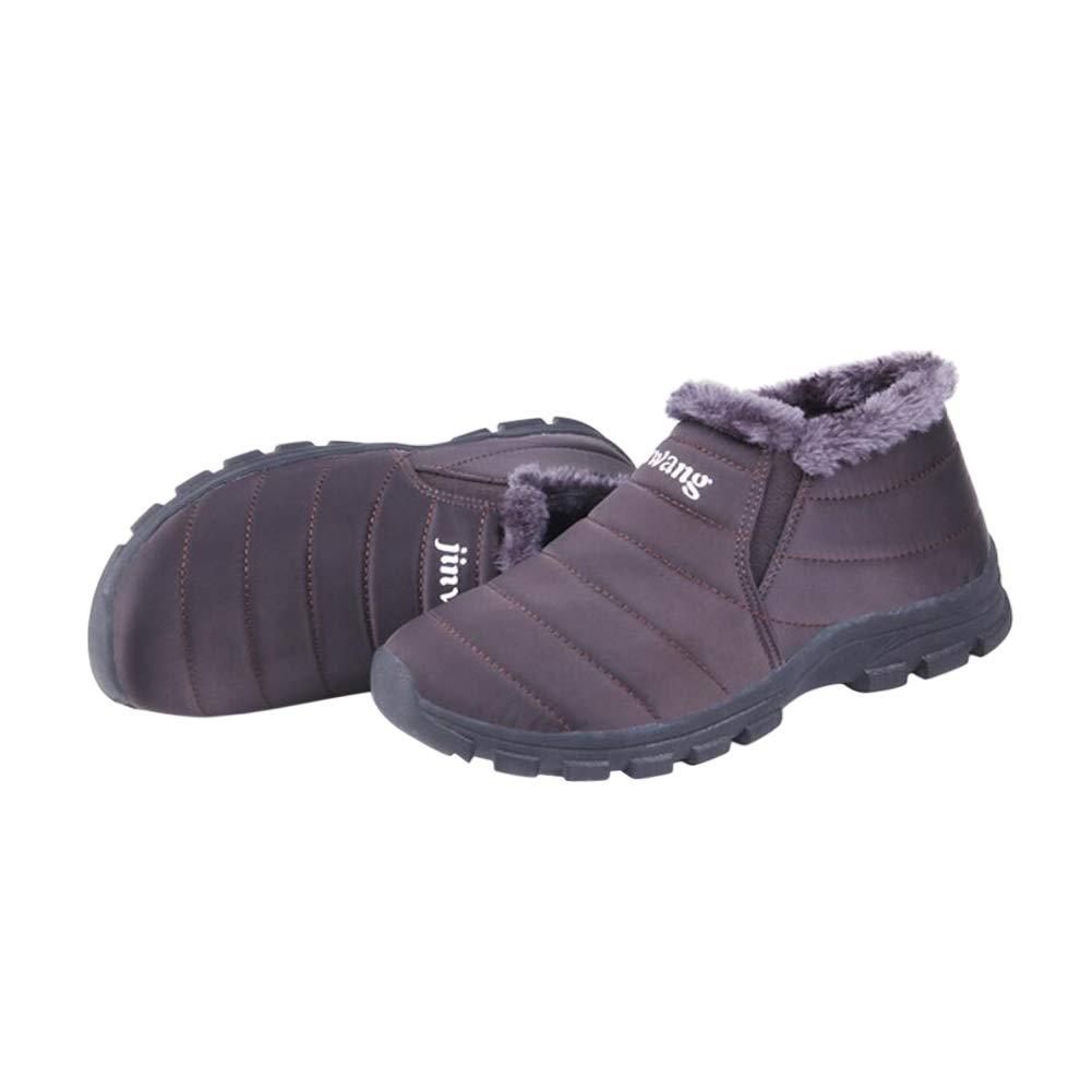 Janjunsi Hombre Mujer Mujer Mujer Otoño Botas Deportes Zapatos - Impermeable Botines Antideslizante Safety Ligero Zapatos Cálido Piel Zapatillas Botas cdb75a