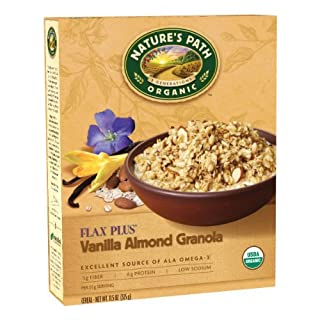Nature's Path Organic Flax Plus, Vanilla Almond Flax Granola Cereal, 11.5-Ounce Boxes (Pack of 6) by Nature's Path
