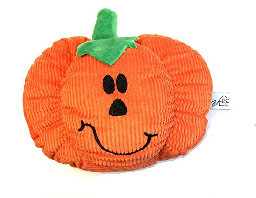 Midlee Pumpkin Smiley Face Dog Toy]()