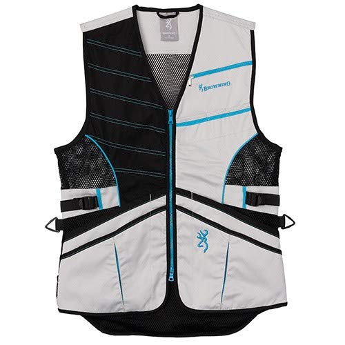 Browning, Women's Trapper Creek Mesh Shooting Vest, Sage/Tan/Teal, Medium, Right Hand by Browning