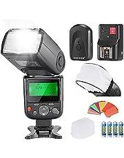 Neewer® PRO NW670 E-TTL Foto Flash Kit per CANON Rebel T5i T4i T3i T3 T2i T1i XSi XTi SL1/EOS 700D 650D 600D 1100D 550D 500D 450D 400D 100D 300D 60D 70D DSLR, Canon EOS M Fotocamere Compatte, inclusi: (1)NW670 E-TTL Flash per Canon + (1)Universale Mini Flash Rimbalzo Diffusore Berretto + (1)35 Filtri Gel a Colori + (1)Flash Diffusore + (1)16 Canali Flash Grilletto a Distanza Senza Fili + (4)Batteria LR