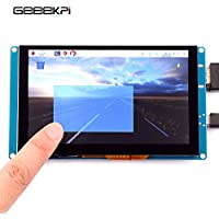 GeeekPi 5 Inch Capacitive Touch Screen 800x480 HDMI Monitor TFT LCD Display for Raspberry Pi 3/2 Model B/B+/Pi Zero & BeagleBone Black & PC