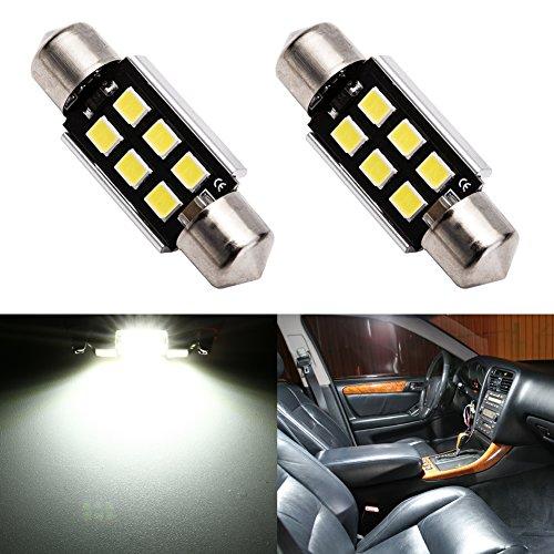 ENDPAGE 6418 6411 DE3425 C5W LED Bulb White 6000K Super Bright 1.50