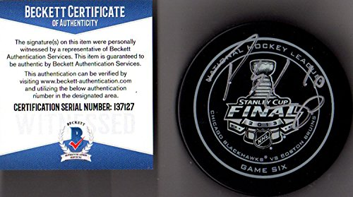 Beckett-BAS Patrick Sharp 2013 Stanley Cup Real Game 6 Puck Autographed Signed Chicago Blackhawks (Patrick Sharp Puck)