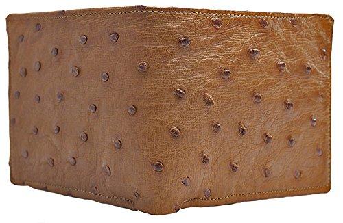 Cognac Ostrich Wallet by John Allen - Ostrich Wallet Mens