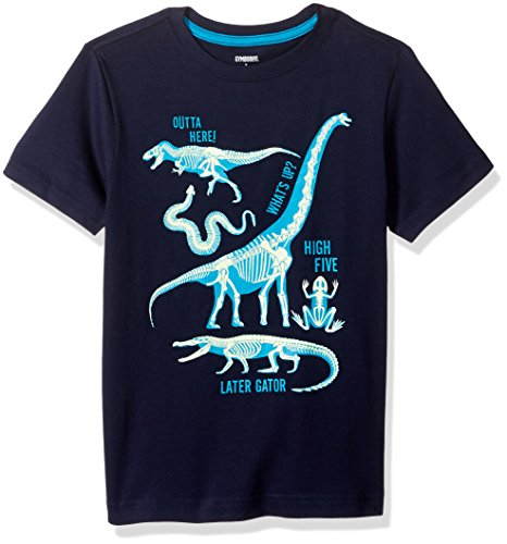 Gymboree Big Boys Short Sleeve Graphic T-Shirt, Dark Marine, 12