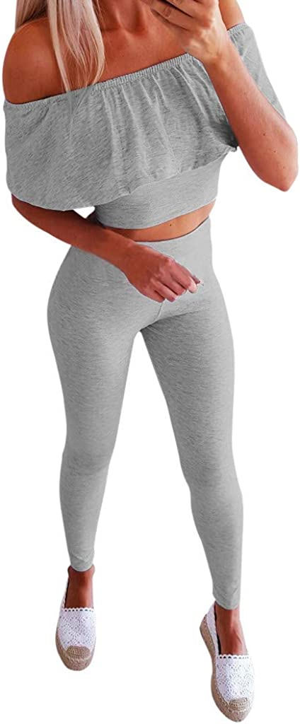 Nevera Women Sleeveless Strap Top Casual Bodycon High Waist Long Pants 2 Pieces Jumpsuit