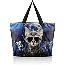 Cat Eyes Shoulder Shopping Women Handbags Tote Bags a387f612681fd