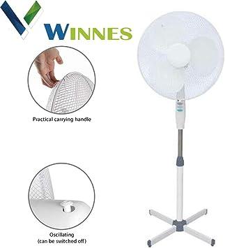 Ventilador de pie, Winnes 40 W, oscilante, ventilador de torre de ...