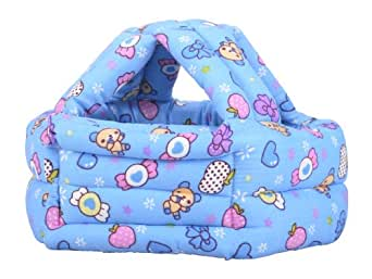 Children Baby Infant Toddler No Bumps Safety Helmet Head Cushion Blue Candy