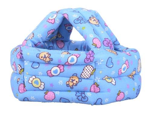 (Children Baby Infant Toddler No Bumps Safety Helmet Head Cushion, Blue)