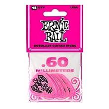 Ernie Ball .60mm Rosa Everlast Púas 12 por paquete