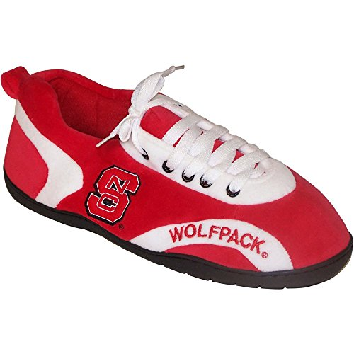 Comfy Feet Comfy Feet NCAA All Around Slippers - North Carolina State Wolfpack, North Carolina State Wolfpack, Polyester, X Large (Mens 11 - 12/Womens 12 - 13)
