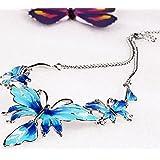 290# - 2 New Arrival Women Jewelry Pendant Choker Chunky Statement Chain Bib Necklace