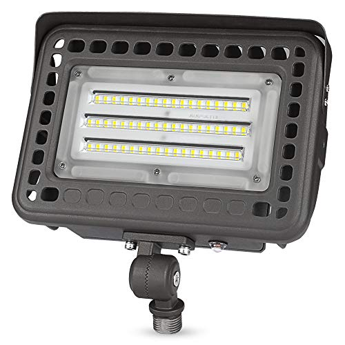 60W Knuckle-Mount LED Flood Light - 6500Lm Dusk to Dawn 5000K 175W MH Equal Outdoor LED Security Floodlights UL&DLC Listed
