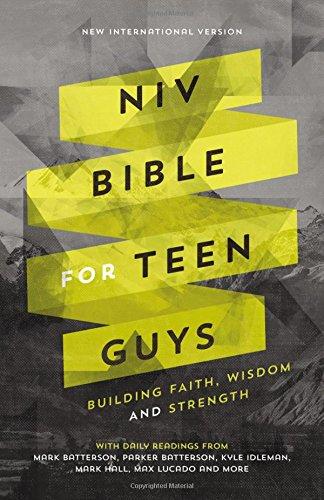 NIV Bible for Teen Guys, Hardcover: Building Faith, Wisdom and Strength