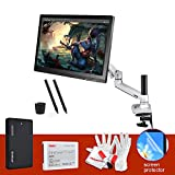 Parblo GT22HD 21.5 Inches Pen Display Graphic Tablet Monitor with LCD Arm Monitor Desk Mount, 32GB SATA SSD Solid State Drive, 2 Rechargeable Pens and Screen Protector for Drawing