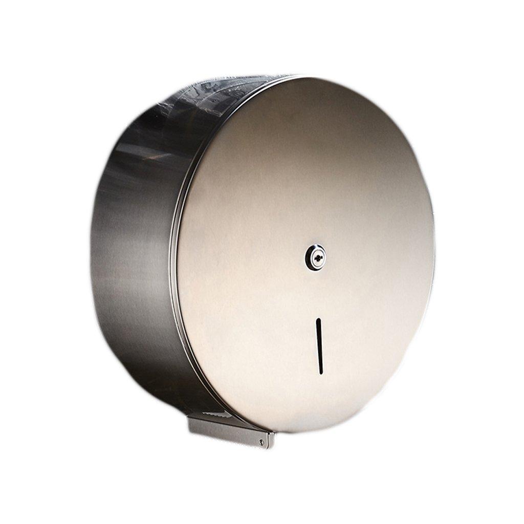 BJLWT 12.2'' Commercial Stainless Steel Toilet Paper Dispenser,Durable Wall Mount Tissue Holder for Professional Bathroom,Single Roll,Chrome