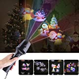 Yodeace LED Projector Light, Halloween Projector & Handheld Flashlight, with Dynamic and Static Images, 4 Slides Portable Party Lights for Home Party, Birthday, Halloween and Christmas