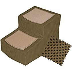 Pet Gear Designer 2-Step with Removable Cover, Pet Stairs, Tan