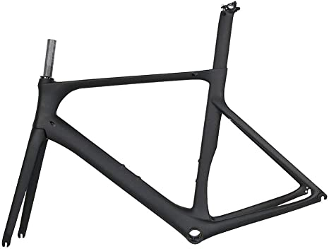 Wenhu Cuadro Completo de Bicicleta de Carretera de Carbono Aero Cycling Cuadro de Bicicleta de Carreras de Carbono T1000 Cuadro de Bicicleta de Carretera de Carbono,Matte50cm: Amazon.es: Deportes y aire libre