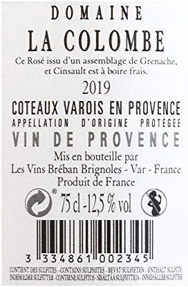 Domaine La Colombe A.O.P. Coteaux Varois en Provence Vino Rosado - Provenza, Francia - Pack 3 Bot. 75 cl