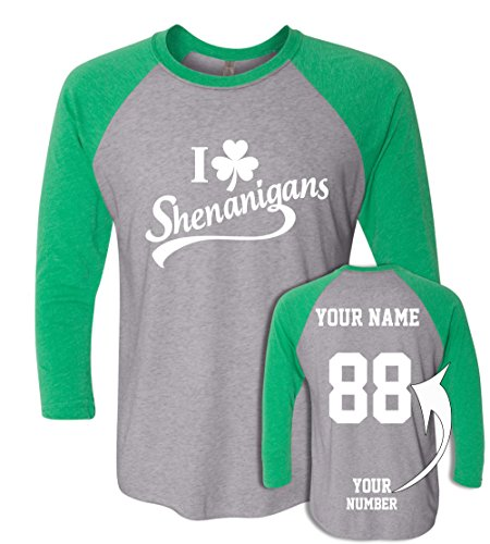 Pattys Day Jersey Baseball (Custom Jerseys ST Patrick's Day T Shirts - Saint Pattys Baseball Raglans Irish Outfits)