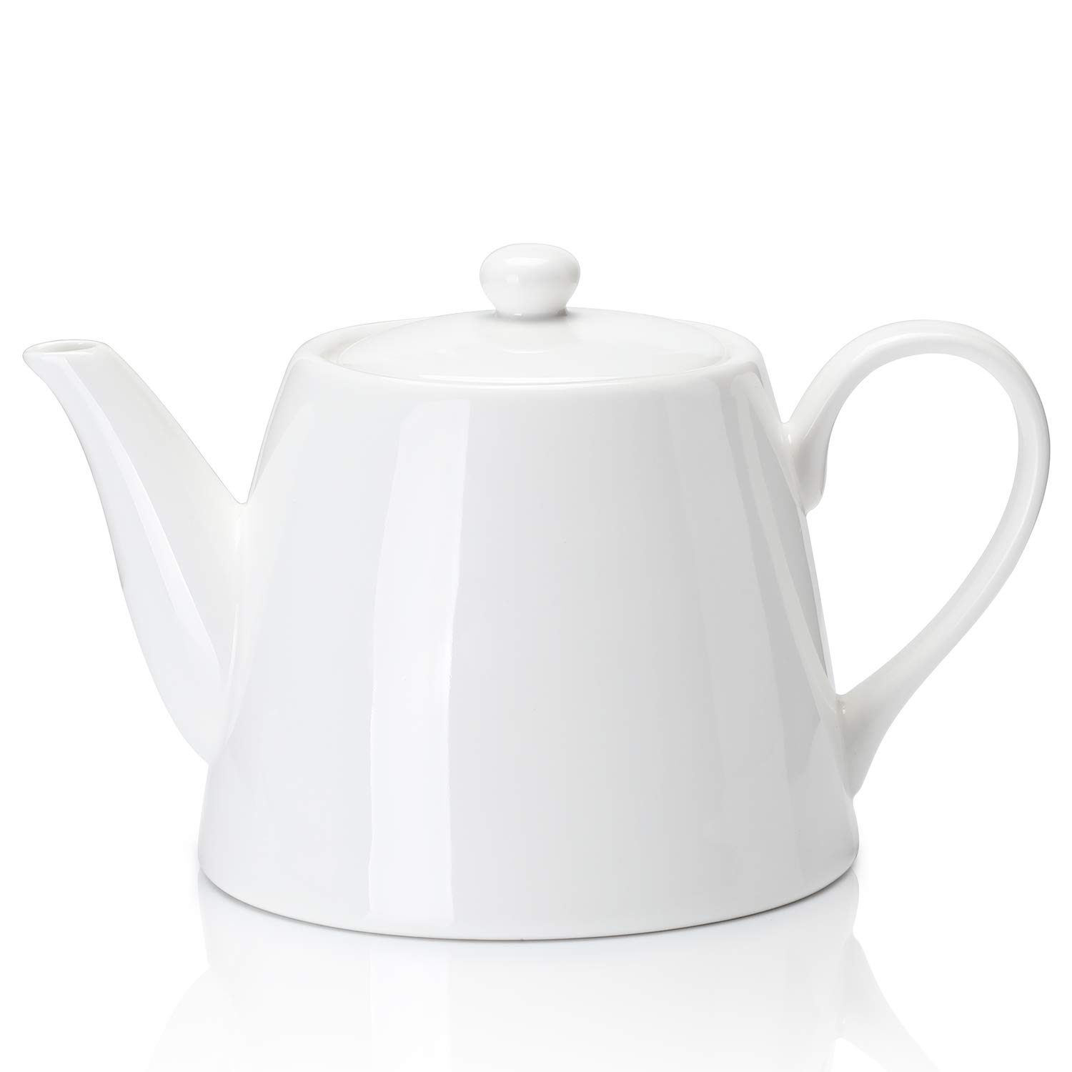 Sweese 223.101 Porcelain Teapot, 28 Ounce Serving Teapot for 2 person by Sweese