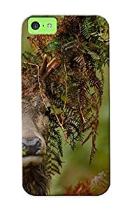 New Ferns Stuck In The Deer Antlers Tpu Skin Case Compatible With Iphone 5c/ Perfect Design