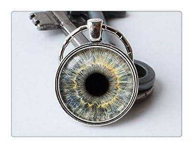 Amazon.com: Llavero con diseño de ojo de diablo y ojo gris ...